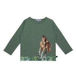 Enfant Terrible Shirt, paardengalopprint (3-16j)
