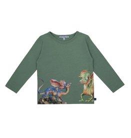 Enfant Terrible Shirt, grijsgroen, drakenprint (3-16j)