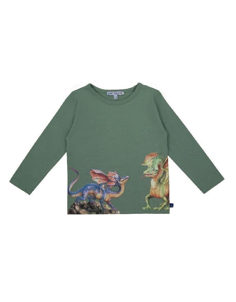 Enfant Terrible Enfant Terrible - shirt, grijsgroen, drakenprint (3-16j)