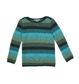 Enfant Terrible Trui, turquoise gestreept (3-16j)