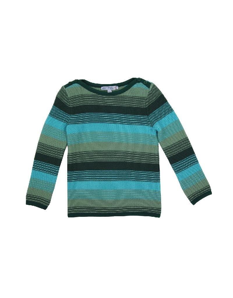 Enfant Terrible Enfant Terrible - trui, turquoise gestreept (3-16j)