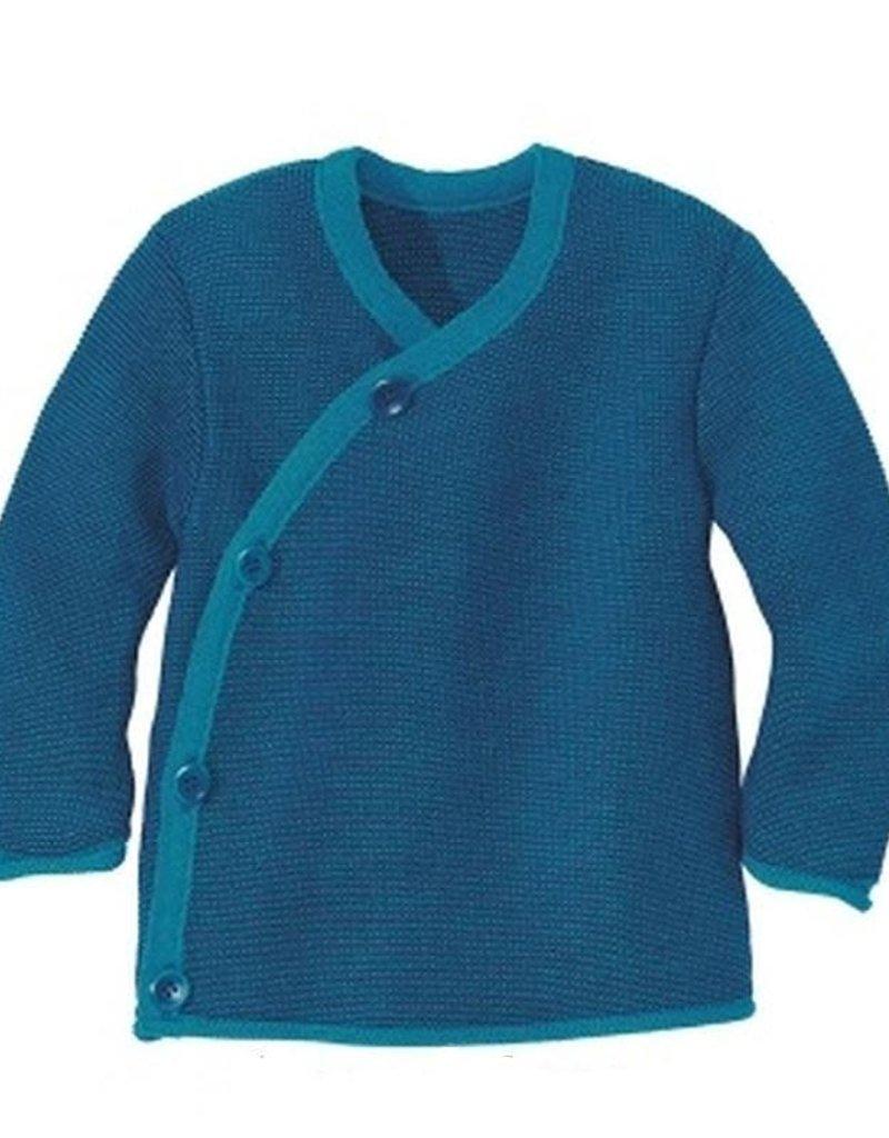 Disana Disana - trui, kimono, blauw/marine (0-2j)