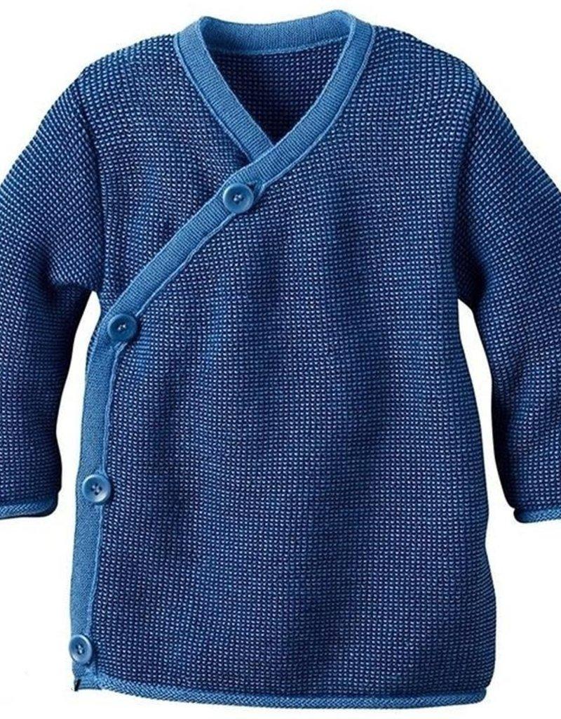 Disana Disana - trui, kimono, blauw/donkerblauw (0-2j)