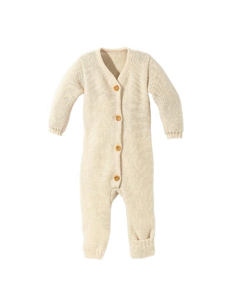 Disana Disana - knitted overall, ecru (0-2j)