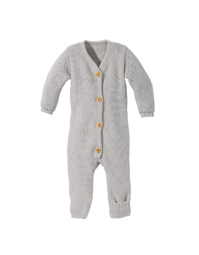 Disana Disana - knitted overall, grey  (0-2j)