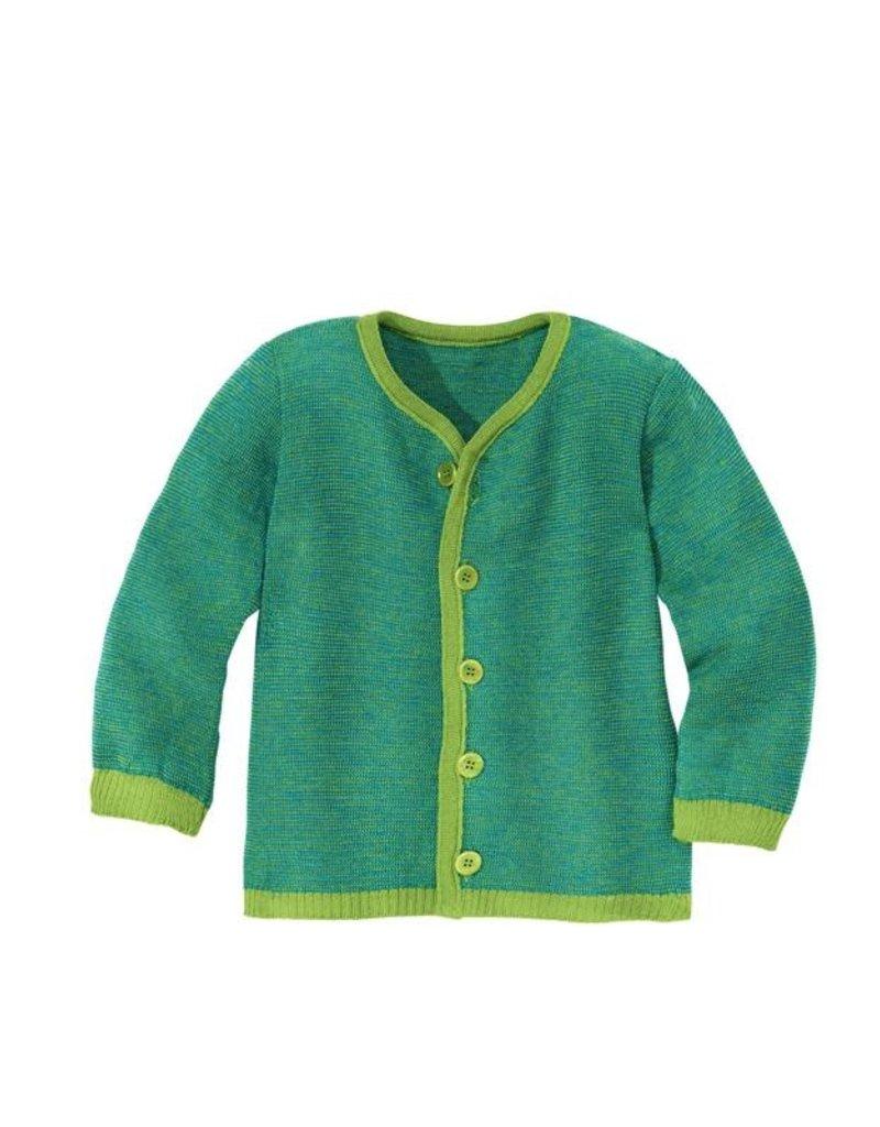 Disana Disana - gilet, groen/blauw (3-16j)