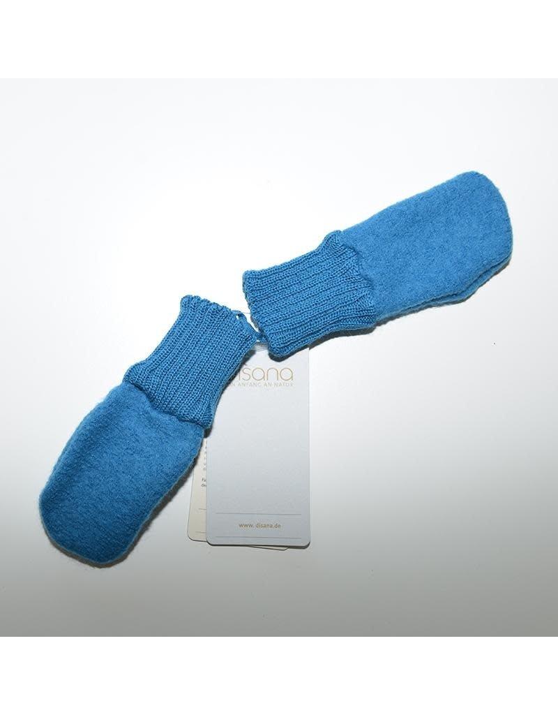 Disana Disana - wanten, blue, gekookte wol (0-2j)