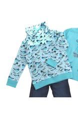 Enfant Terrible Enfant Terrible - sweater, turksblauw, vogels (3-16j)