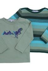 Enfant Terrible Enfant Terrible - shirt, grijsgroen, dinoprint (3-16j)