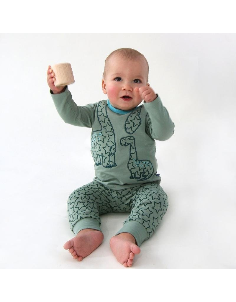 Enfant Terrible Enfant Terrible - shirt, grijsgroen, dino (0-2j)
