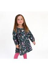 Enfant Terrible Enfant Terrible - jurk, anthraciet, bloemen (3-16j)