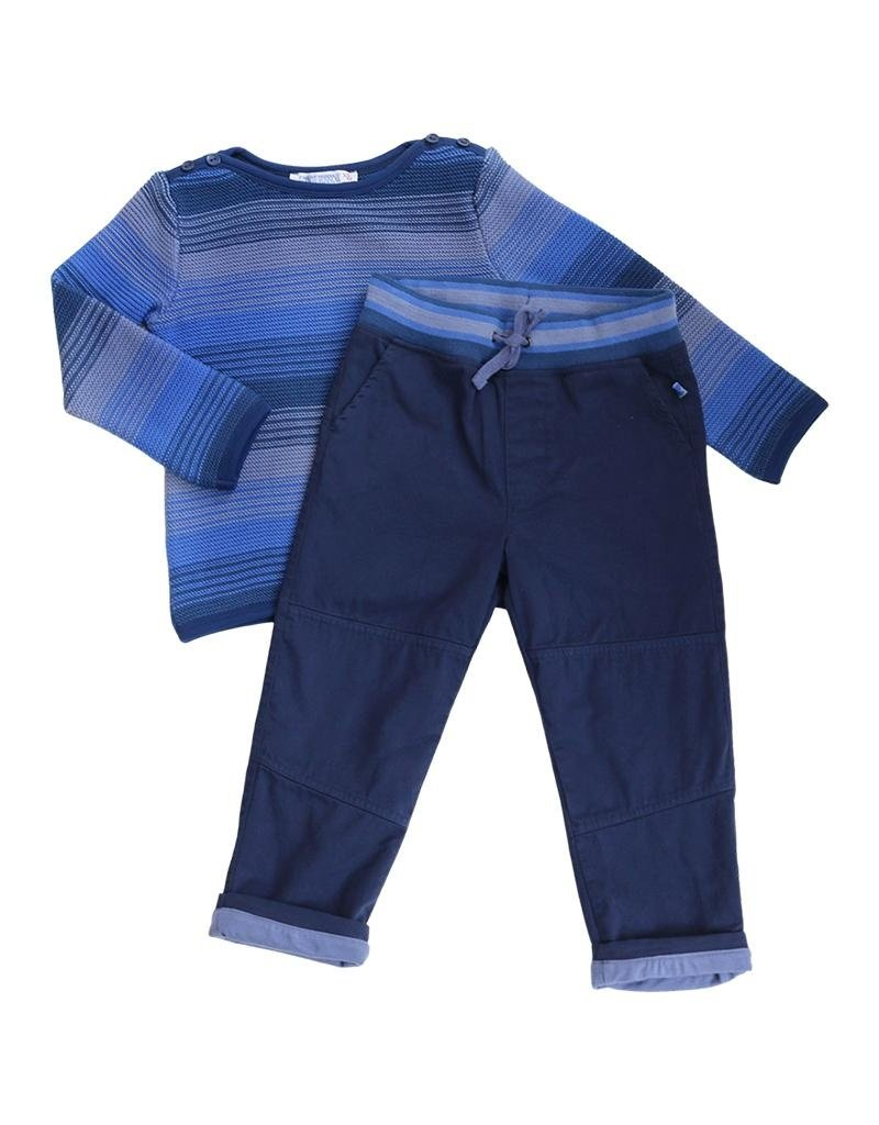 Enfant Terrible Enfant Terrible - trui, donkerblauw gestreept (3-16j)