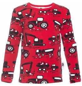 Paapii Shirt, uljas, red, machines (0-2j)