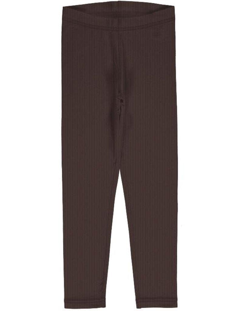 Maxomorra Maxomorra - legging, solid chocolate (3-16j)