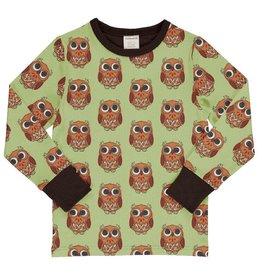 Maxomorra Shirt, owl (3-16j)