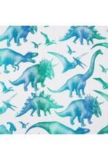 LennyLamb LennyLamb - wikkeldoek Jurassic Park white, 120 x 120 cm