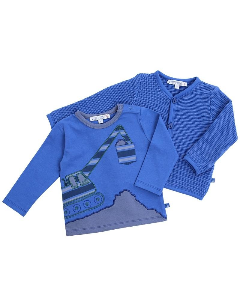 Enfant Terrible Enfant Terrible - gilet, blauw (0-2j)