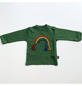 Ubang Shirt, hedge green, rainbow (0-2j)
