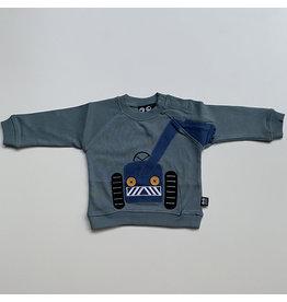 Ubang Shirt, slate, big machine (0-2j)