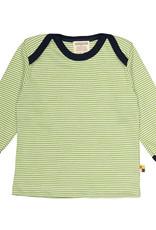 Loud+Proud Loud+Proud - shirt, mosgroen gestreept (0-2j)