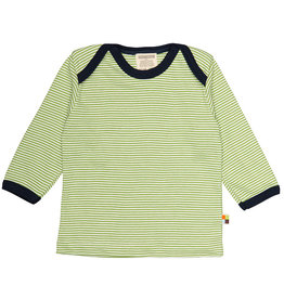 Loud+Proud Shirt, mosgroen gestreept (0-2j)