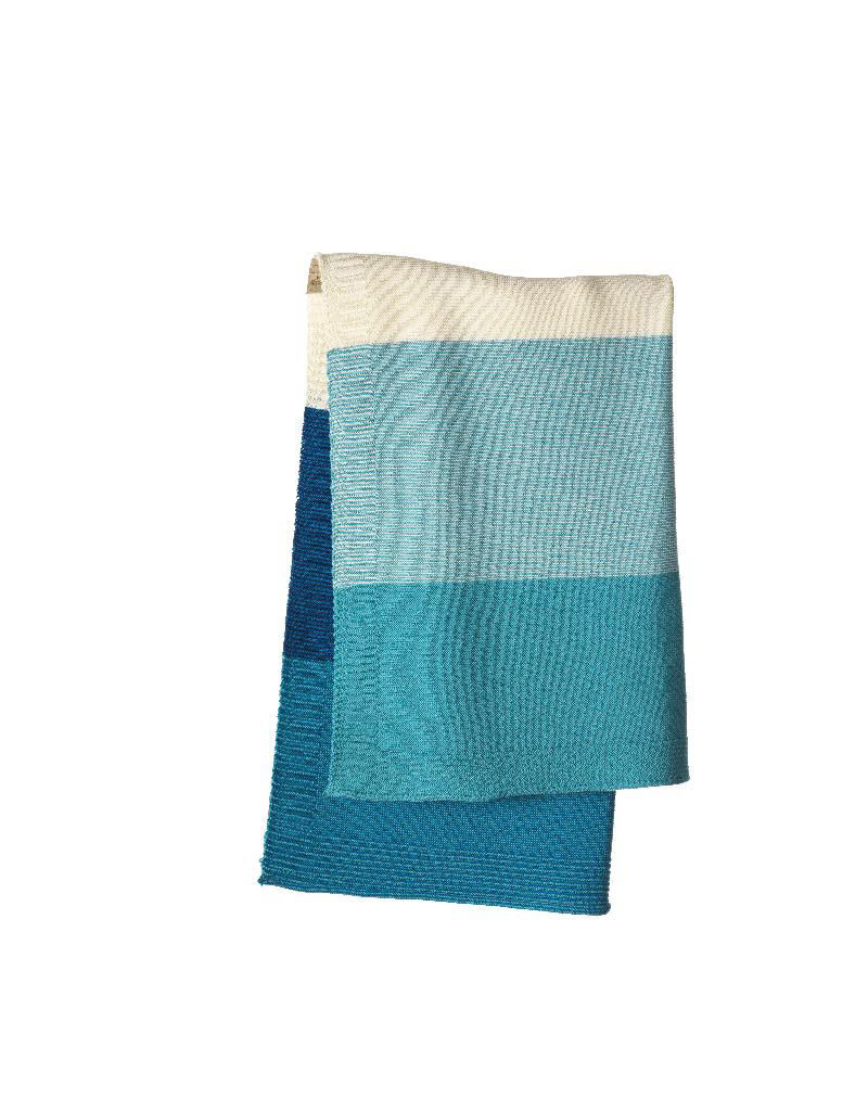 Disana Disana - deken, knitted, blue/lagoon, 100 x 80 cm