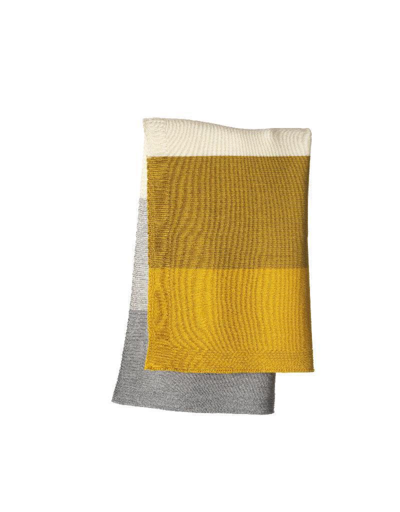 Disana Disana - deken, gestreept, curry/gold, 100 x 80 cm