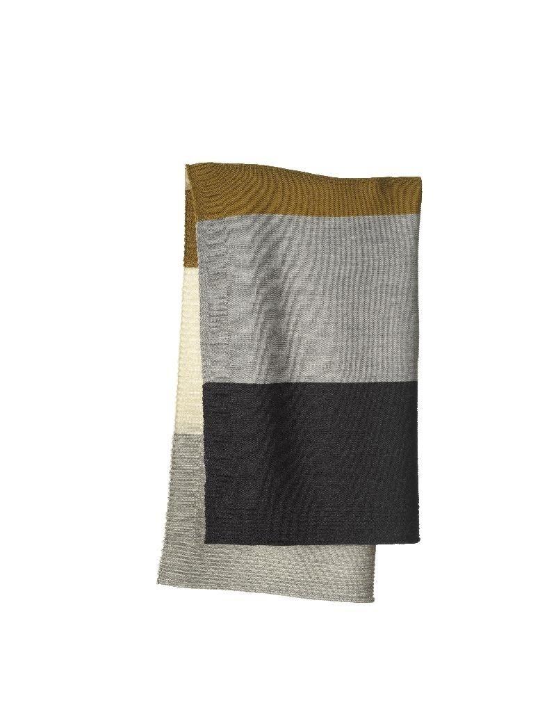 Disana Disana - deken, gestreept, gold/grey, 100 x 80 cm