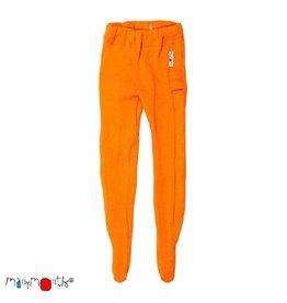ManyMonths Legging, met voetjes, wol, festive orange (0-2j)