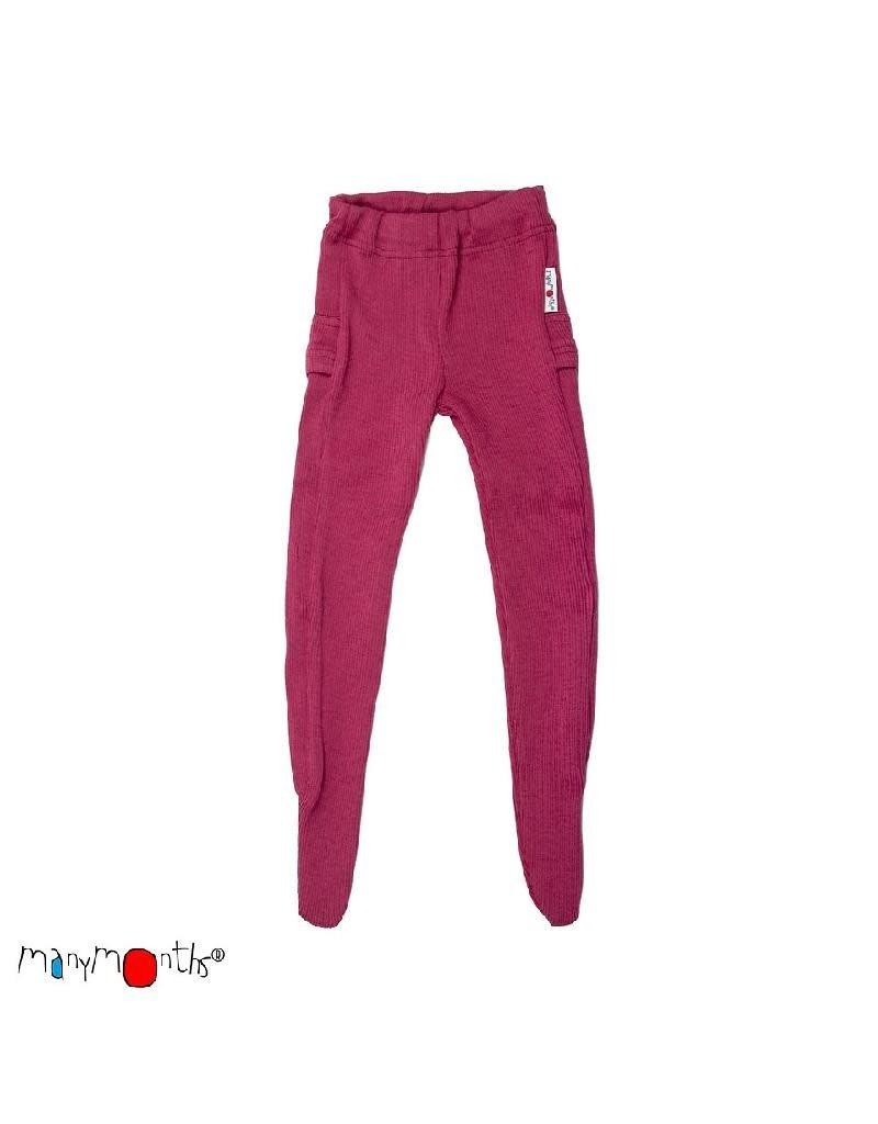 ManyMonths ManyMonths - legging, met voetjes, wol, frosted berry (0-2j)