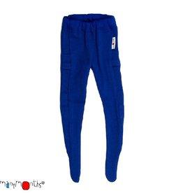 ManyMonths Legging, met voetjes, wol, jewel blue (0-2j)