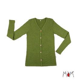 MaM Cardigan, wol, garden moss green