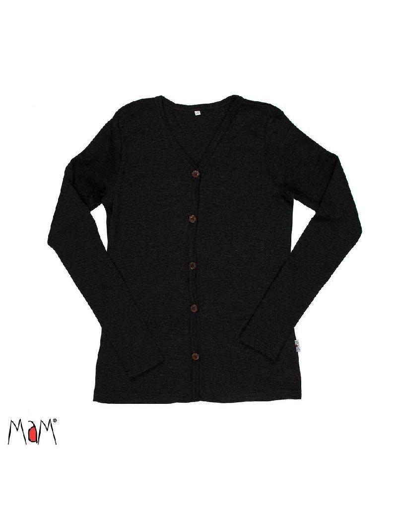 MaM MaM - cardigan, wol, foggy black