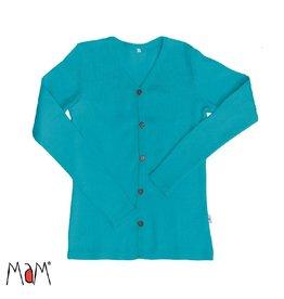 MaM Cardigan, wol, royal turquoise