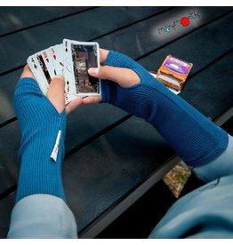 MaM Lange handschoen zonder vingers, cosmos blue