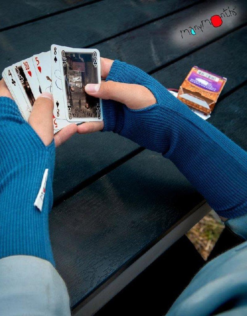 MaM MaM - handschoen, lang, wol, zonder vingers, cosmos blue