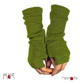 MaM Lange handschoenen zonder vingers, garden moss green