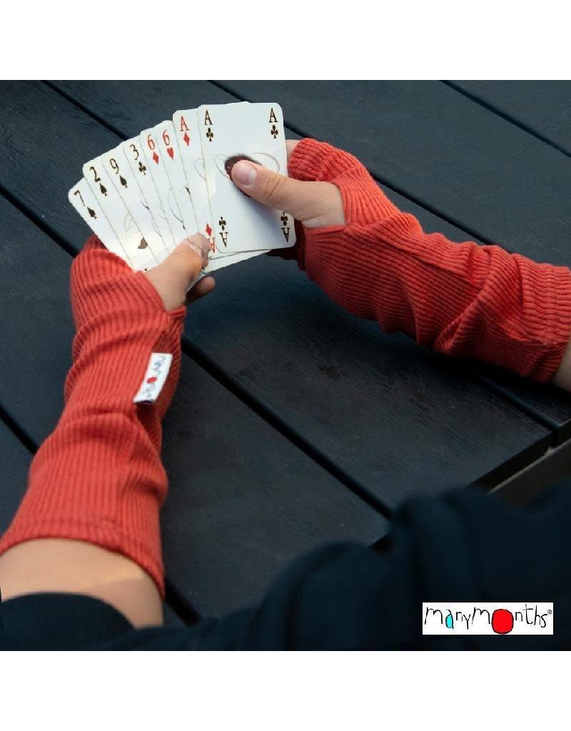 MaM MaM - handschoen, lang, wol, zonder vingers, rooibos red