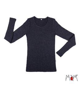 MaM Shirt, wol, foggy black