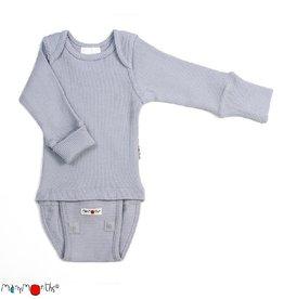 ManyMonths Body/shirt, ls, wol, bright silver (0-2j)
