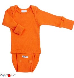 ManyMonths Body/shirt, ls, wol, festive orange (0-2j)