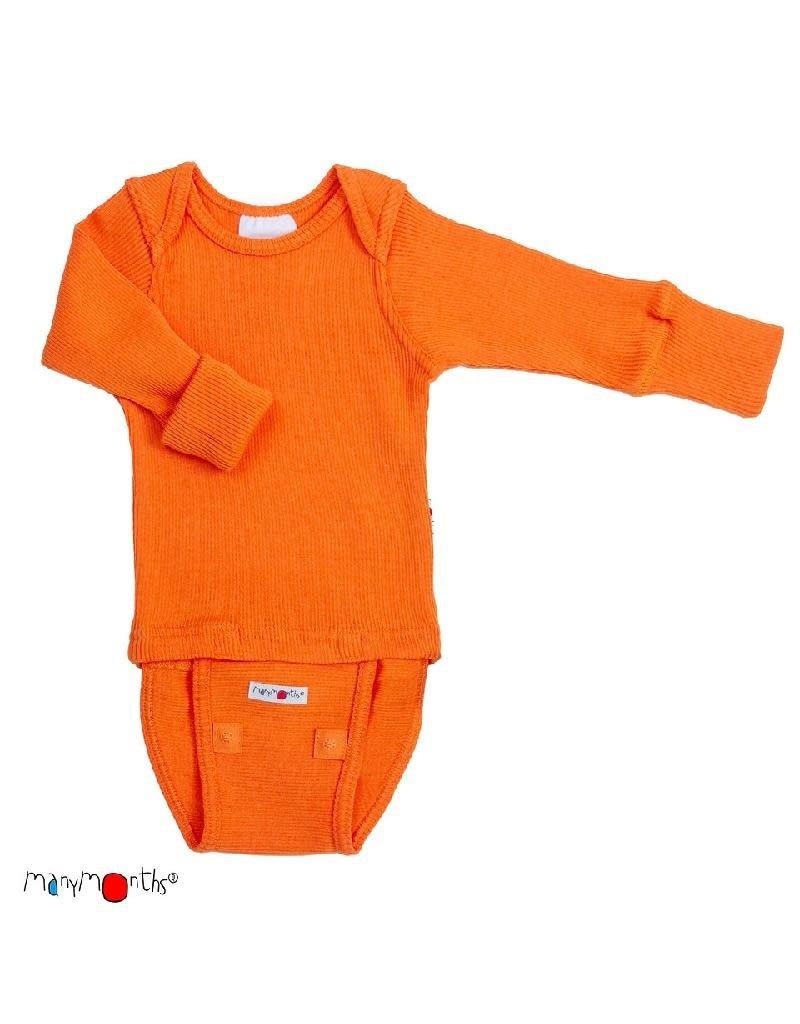 ManyMonths ManyMonths - body/shirt, ls, wol, festive orange (0-2j)