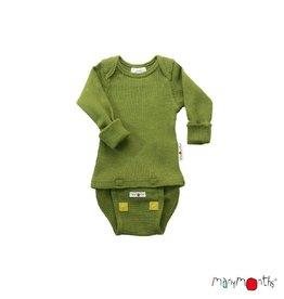 ManyMonths Body/shirt, ls, wol, garden moss green (0-2j)