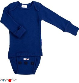 ManyMonths Body/shirt, ls, wol, jewel blue (0-2j)