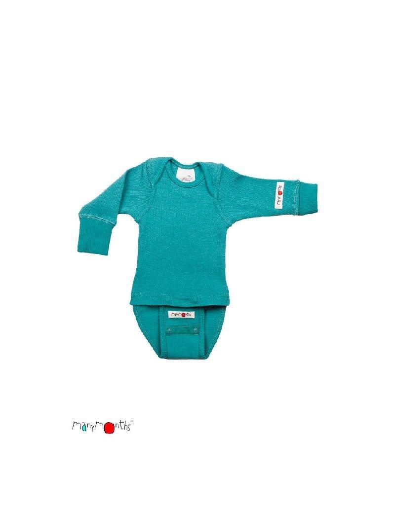 ManyMonths ManyMonths - body/shirt, ls, wol, royal turquoise (0-2j)