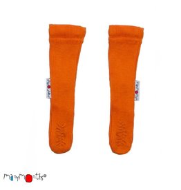 ManyMonths Booties, long, wol, festive orange (0-2j)