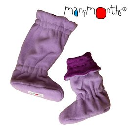 ManyMonths Booties, winter-, fleece en wol, violet lotus (0-2j)