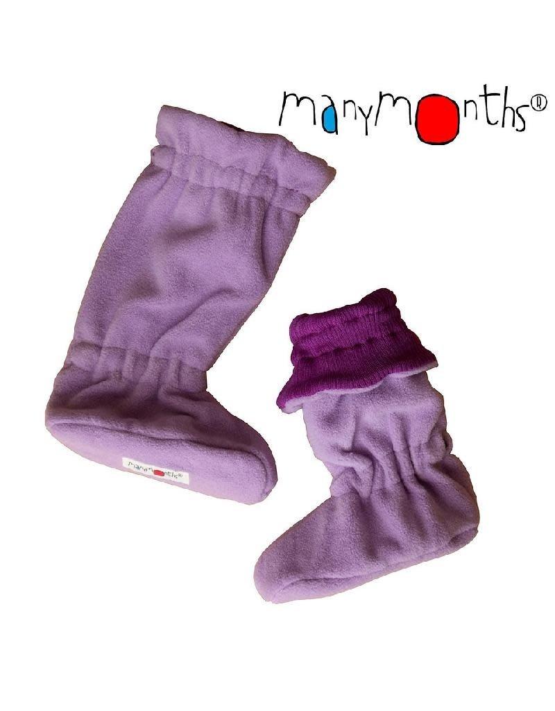 ManyMonths ManyMonths - booties, winter-, fleece en wol, violet lotus (0-2j)