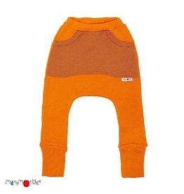 ManyMonths Broek, kangaroo, wol, festive orange (3-16j)