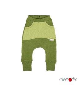 ManyMonths Broek, kangaroo, wol, garden moss green (0-2j)